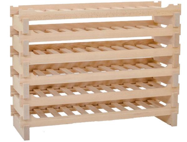 Stojak na wino -30 butelek drewno bukowe