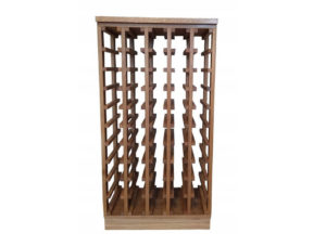 Regał dębowy na wino lite drewno na 50 butelek